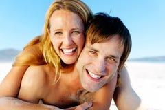 Sandy face couple Stock Image