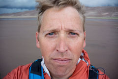 Sandy Face Selfie Imagens de Stock Royalty Free