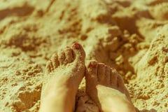 Sandy Feet Photo libre de droits
