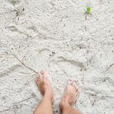 Sandy Feet ! images libres de droits