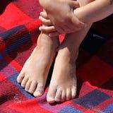 Sandy feet Royalty Free Stock Photo