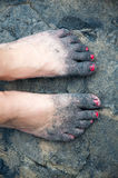 Sandy feet Royalty Free Stock Images