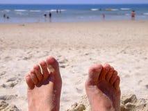 Sandy feet Royalty Free Stock Image