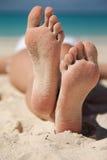 Sandy Feet Lizenzfreie Stockfotos