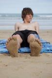 Sandy feet. Stock Photos