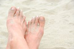 Sandy feet Stock Image