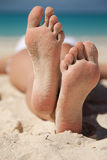 Sandy feet Royalty Free Stock Photos