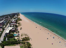 Sandy Florida beach aerial view Stock Photography