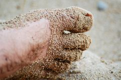 Sandy foot Royalty Free Stock Photos