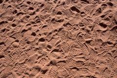 Sandy Footprints dos turistas Imagem de Stock