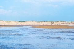 Sandy Formby Beach cerca de Liverpool en un día soleado Foto de archivo