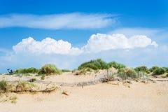 Sandy Formby Beach dichtbij Liverpool op een zonnige dag stock foto