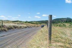 Sandy road to Muriwai Beach. Sandy four wheel drive only access road to Muriwai Beach Stock Images
