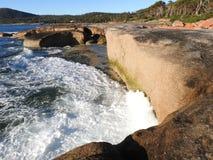 Sandy and Granite Coastline, Tasmania Stock Photos