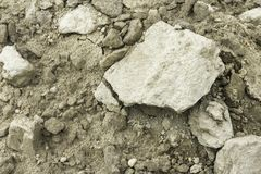 Dry sandy ground background stock images
