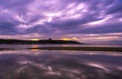 Sandy Hook Beach al tramonto fotografia stock
