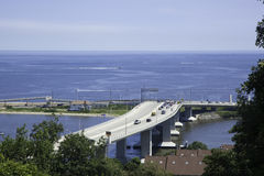Sandy Hook Bridge, New Jersey Stock Image