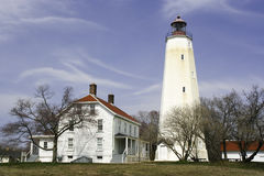 Sandy Hook Lighthouse Fotografie Stock