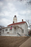 Sandy Hook Lighthouse and Lightkeepers House Royalty Free Stock Images