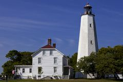 Sandy Hook Lighthouse NJ Immagine Stock Libera da Diritti
