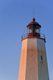 Sandy Hook Lighthouse at Sunset. The Sandy Hook Lighthouse, just before sunset Stock Photography