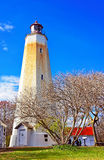 Sandy Hook Lighthouse tower Stock Image
