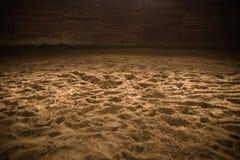 Sandy Horse Riding Arena imagenes de archivo