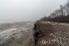 Sandy Iceberg, il lago Erie Ohio immagine stock