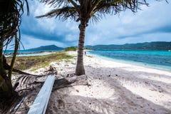Sandy Island. Beautiful view of Sandy Island, very small island on the Grenadine stock photography