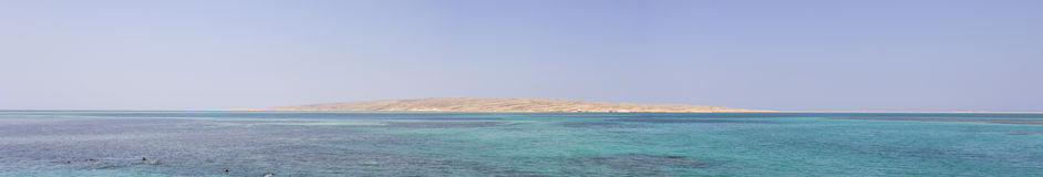 Sandy island in Hurghada Royalty Free Stock Photos