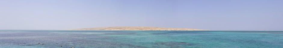 Sandy island in Hurghada Royalty Free Stock Photos