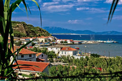 Sandy island of Susak harbor. Dalmatia, Croatia Stock Images