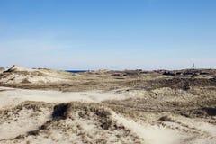 Sandy krajobraz Zdjęcia Royalty Free