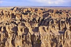 Sandy Landscape of Badlands Royalty Free Stock Photos