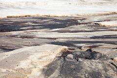 Sandy landscape with the relief formed by water currents Royalty Free Stock Image