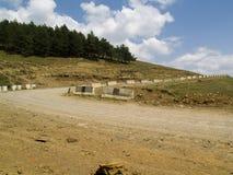 Sandy-landwirtschaftlicher Weg Stockbild