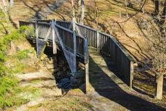 Footbridge at Smith Mountain Dam Picnic Area stock image