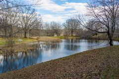 View of the Lake at Smith Mountain Dam Picnic Area royalty free stock photo