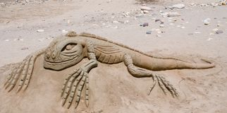Sandy Lizzard Stock Photo