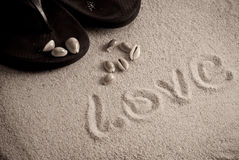 Sandy Love Royalty Free Stock Images