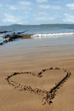 Sandy love heart Stock Image
