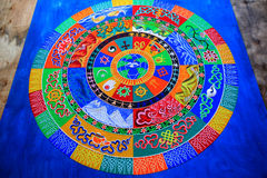 Sandy mandala Stock Images