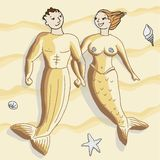 Sandy mermaids Stock Photo
