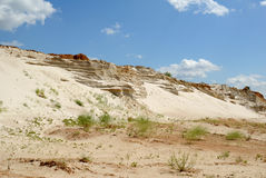 Sandy mountain from white sand Royalty Free Stock Image