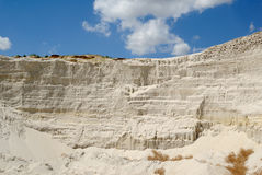 Sandy mountain from white sand Stock Photography