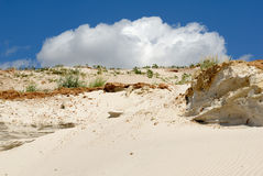 Sandy mountain from white sand Stock Image