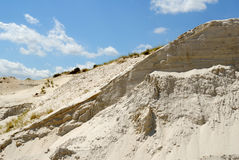 Sandy mountain from white sand Royalty Free Stock Photo
