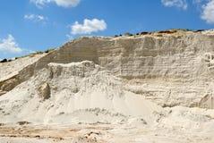 Sandy mountain from white sand Stock Photos