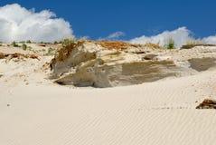 Sandy mountain from white sand Stock Photo