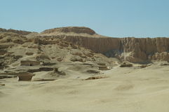 DESERT SAND MOUNTAINS LUXOR EGYPT Stock Photo